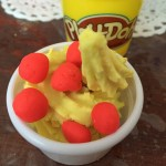 My latest creation while babysitting, play-doh ice cream with berries.…